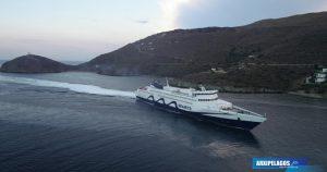 του «Tera Jet» στην Άνδρο drone video, Αρχιπέλαγος, Ναυτιλιακή πύλη ενημέρωσης