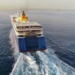 Blue Star Paros Αναχώρηση από τo λιμάνι του Πειραιά drone video 4K 6, Αρχιπέλαγος, Ναυτιλιακή πύλη ενημέρωσης