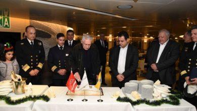 """Photo of Yποδοχή του πλοίου """"ΜΠΛΟΥ ΣΤΑΡ ΔΗΛΟΣ"""" από την πολιτική και φυσική ηγεσία του Υπουργείου Ναυτιλίας"""