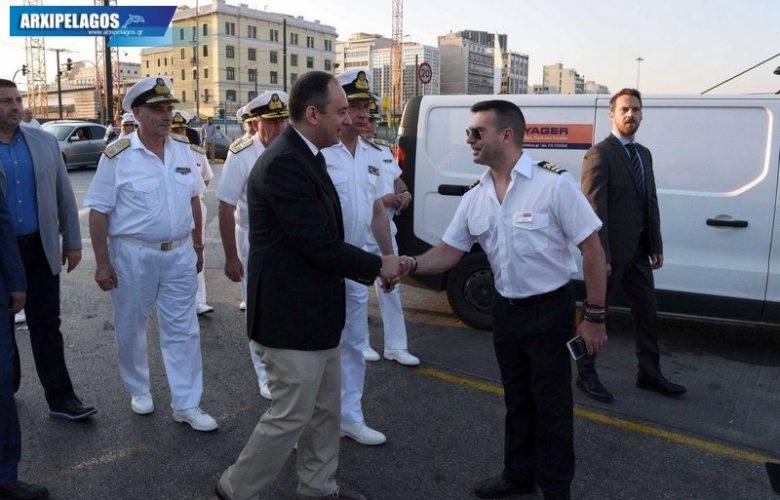 Επίσκεψη του Υπουργού Ναυτιλίας και Νησιωτικής Πολιτικής Ιωάννη Πλακιωτάκη στο κεντρικό λιμάνι του Πειραιά