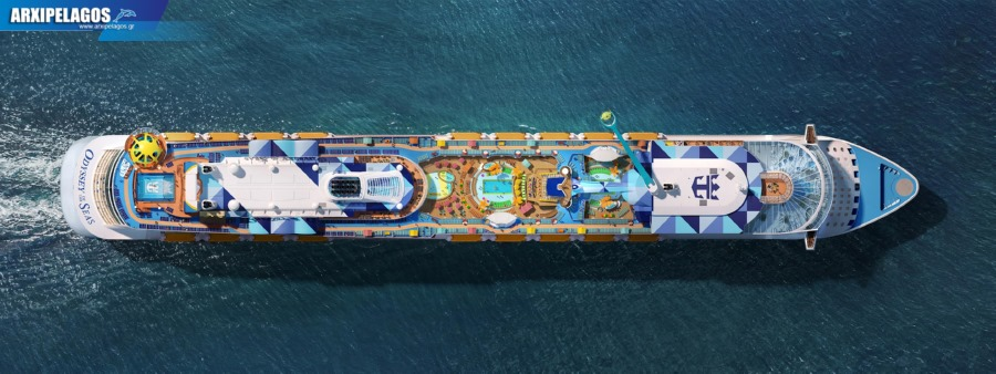 Aerial View Of Odyssey Of The Seas Full Ship