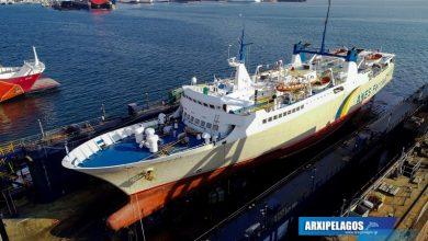 Photo of Εικόνες από το Πρωτεύς στα ναυπηγεία Σπανόπουλου
