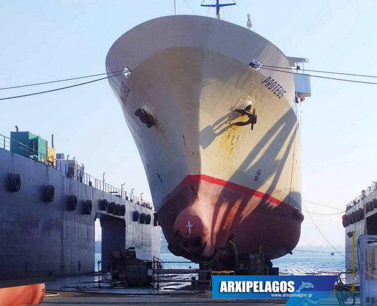 Εικόνες από το Πρωτεύς στα ναυπηγεία Σπανόπουλου (6)