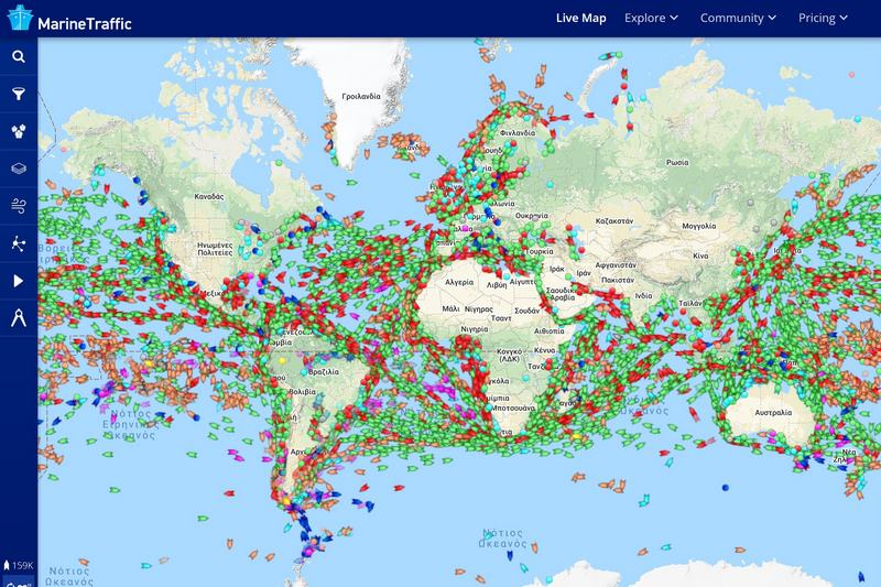 Επίσκεψη του Arxipelagos στο Marinetraffic (2)