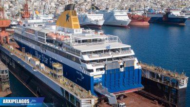 Photo of Στη δεξαμενή το Blue Star Delos – Αεροφωτογραφίες