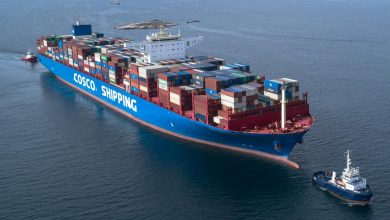 Photo of COSCO SHIPPING VIRGO (Container Ship) Άφιξη στο pct του Περάματος (aerial drone video)