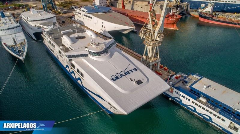 Power Jet Rapidlink Jet και Sifnos Jet αναμένουν στη Σαλαμίνα 6, Αρχιπέλαγος, Ναυτιλιακή πύλη ενημέρωσης