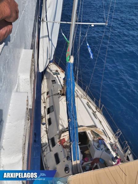 Aqua Blue διέσωσε 4 επιβαίνοντες ιστιοπλοϊκού που κινδύνευε photos 4, Αρχιπέλαγος, Ναυτιλιακή πύλη ενημέρωσης