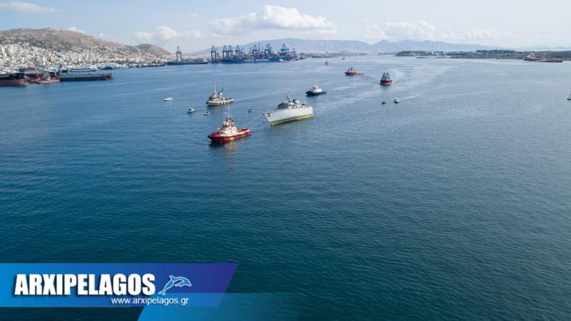 φωτορεπορτάζ από τη σύγκρουση του πολεμικού Καλλίστω drone video 39, Αρχιπέλαγος, Ναυτιλιακή πύλη ενημέρωσης