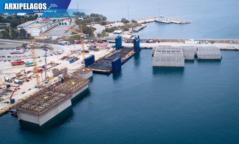 Όμιλος Σπανόπουλου κατασκευή μπλοκιών από σκυρόδεμα για τους νέους προβλήτες κρουαζιέρας 2, Αρχιπέλαγος, Ναυτιλιακή πύλη ενημέρωσης