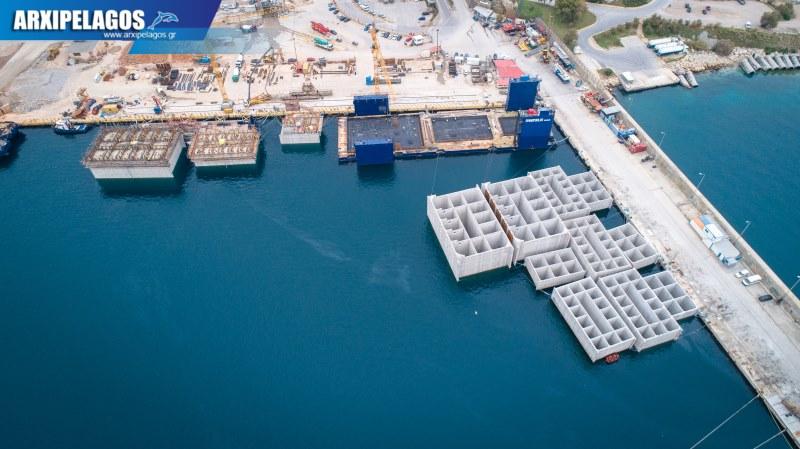Όμιλος Σπανόπουλου κατασκευή μπλοκιών από σκυρόδεμα για τους νέους προβλήτες κρουαζιέρας 5, Αρχιπέλαγος, Ναυτιλιακή πύλη ενημέρωσης