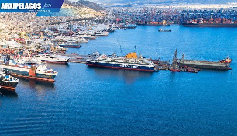 Photo of Τέλος δεξαμενισμού για το Blue Star Delos – drone photos