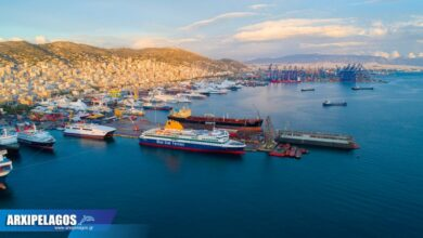 δοκιμαστικό με τη νέα τσιμινιέρα για το Blue Star Delos 2, Αρχιπέλαγος, Ναυτιλιακή πύλη ενημέρωσης