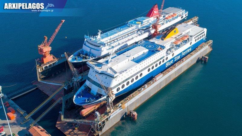 δεξαμενισμό το Blue Star 1 Νήσος Σάμος Σημερινές αεροφωτογραφίες 1, Αρχιπέλαγος, Ναυτιλιακή πύλη ενημέρωσης