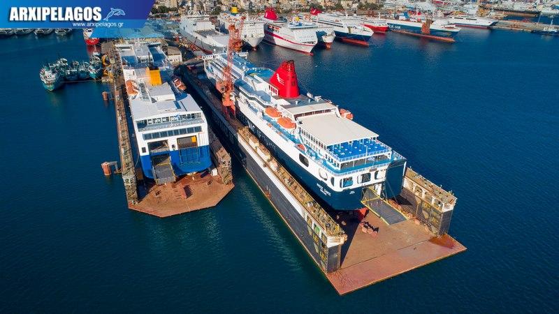 δεξαμενισμό το Blue Star 1 Νήσος Σάμος Σημερινές αεροφωτογραφίες 10, Αρχιπέλαγος, Ναυτιλιακή πύλη ενημέρωσης