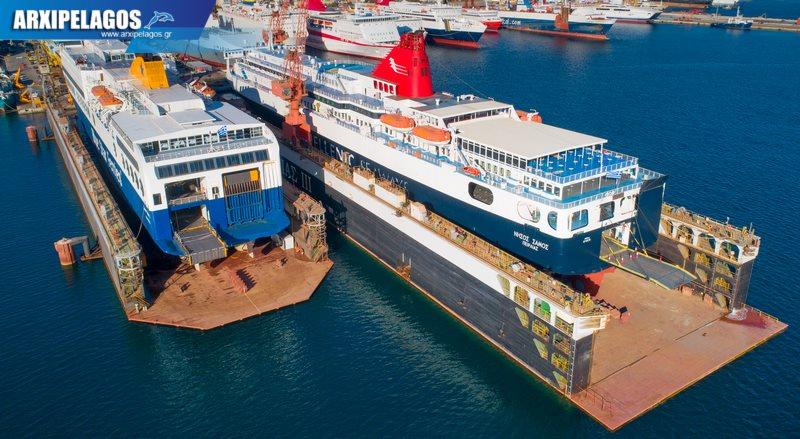 δεξαμενισμό το Blue Star 1 Νήσος Σάμος Σημερινές αεροφωτογραφίες 12, Αρχιπέλαγος, Ναυτιλιακή πύλη ενημέρωσης