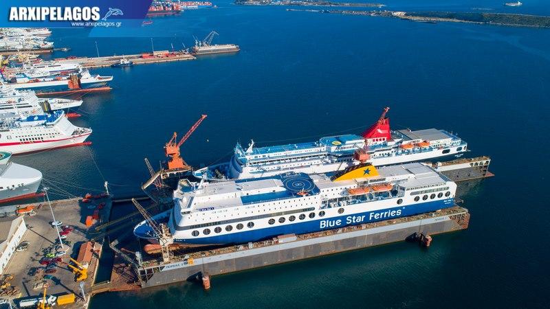 δεξαμενισμό το Blue Star 1 Νήσος Σάμος Σημερινές αεροφωτογραφίες 15, Αρχιπέλαγος, Ναυτιλιακή πύλη ενημέρωσης