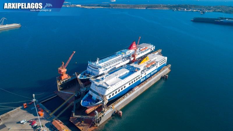 δεξαμενισμό το Blue Star 1 Νήσος Σάμος Σημερινές αεροφωτογραφίες 16, Αρχιπέλαγος, Ναυτιλιακή πύλη ενημέρωσης