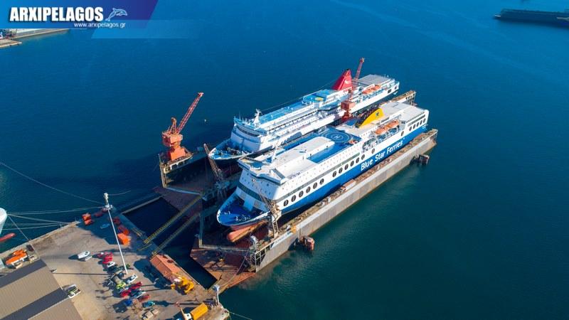 δεξαμενισμό το Blue Star 1 Νήσος Σάμος Σημερινές αεροφωτογραφίες 2, Αρχιπέλαγος, Ναυτιλιακή πύλη ενημέρωσης