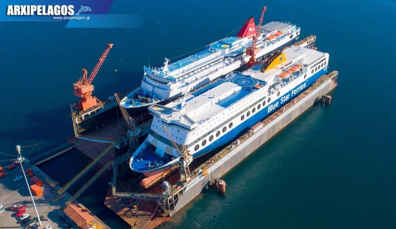 δεξαμενισμό το Blue Star 1 Νήσος Σάμος Σημερινές αεροφωτογραφίες 3, Αρχιπέλαγος, Ναυτιλιακή πύλη ενημέρωσης