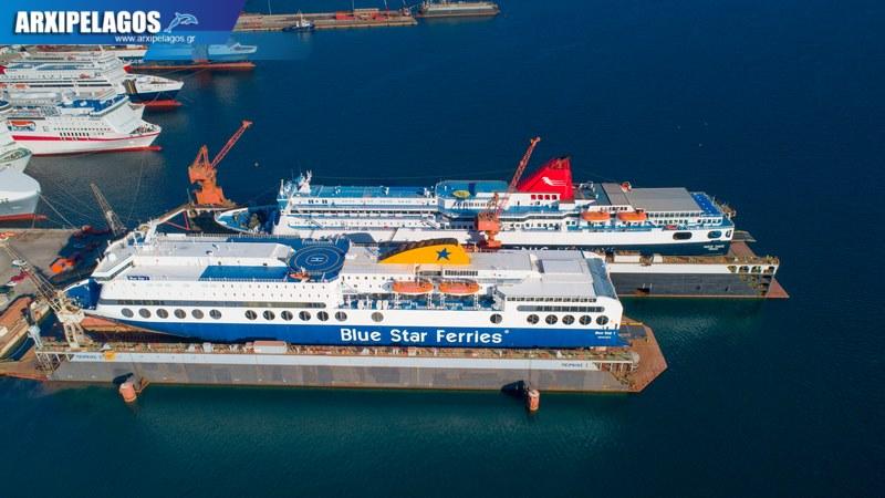 δεξαμενισμό το Blue Star 1 Νήσος Σάμος Σημερινές αεροφωτογραφίες 4, Αρχιπέλαγος, Ναυτιλιακή πύλη ενημέρωσης