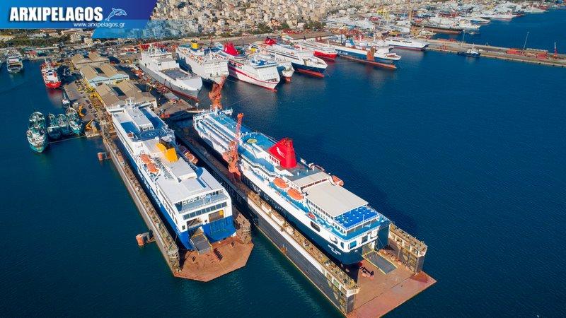 δεξαμενισμό το Blue Star 1 Νήσος Σάμος Σημερινές αεροφωτογραφίες 7, Αρχιπέλαγος, Ναυτιλιακή πύλη ενημέρωσης