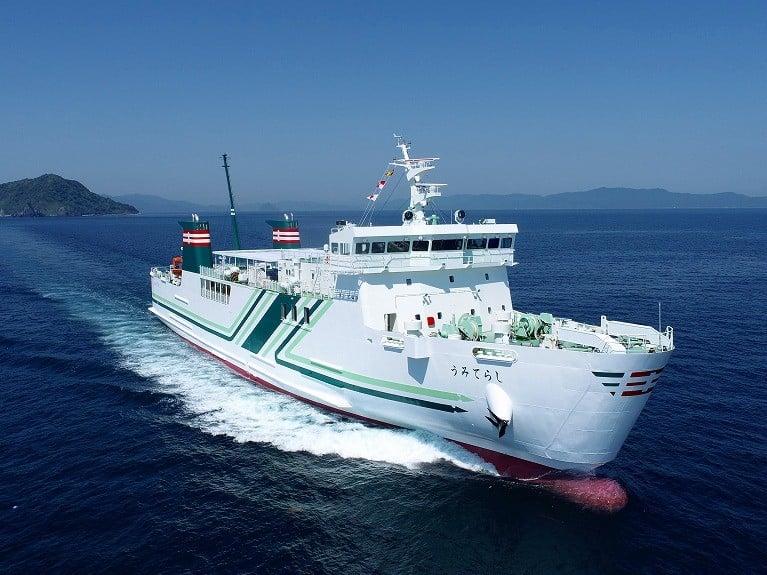 Umiterachi Δρομολογήθηκε το νεότευκτο της Kyushu Yusen Co 1, Αρχιπέλαγος, Ναυτιλιακή πύλη ενημέρωσης