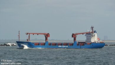 φορτηγού πλοίου στις βραχονησίδες του Μυρτώου πελάγους Καράβια, Αρχιπέλαγος, Ναυτιλιακή πύλη ενημέρωσης